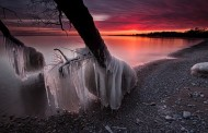 Vague de froid sur les rives du lac Ontario par Timothy Corbin
