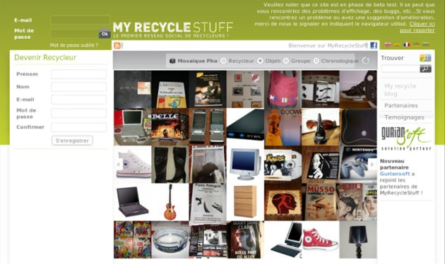 copie ecran site myrecyclestuff