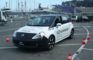 Test drive de la Nissan Leaf au salon Ever à Monaco