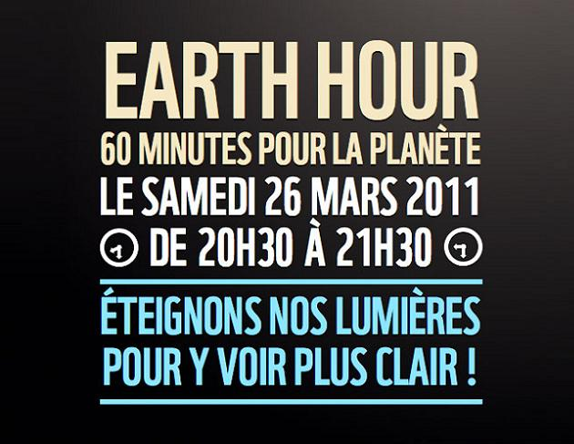 On arrête Facebook pour Earth Hour 2011 ...