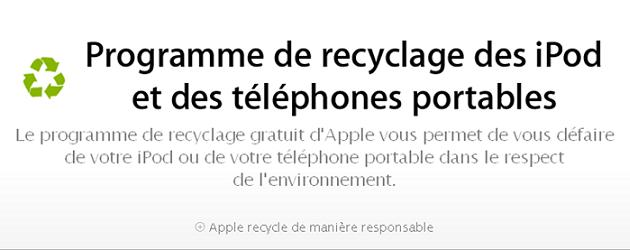 Apple lance son service de recyclage en France
