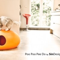 Poo Poo Pee Do - La litiere pour chats version orange
