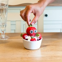 Edible eyes, la fraise