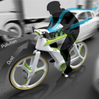 Air-Purifying Bike concept 1