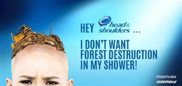 head & shoulders greenpeace