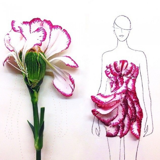 Flowers fashion illustrations 4