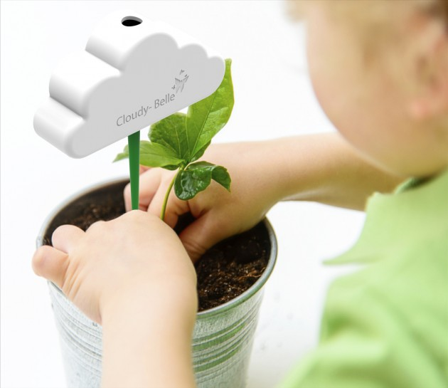 A child and a new plant