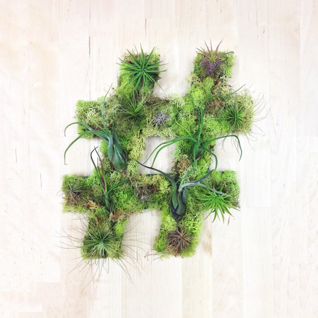 tableau vegetal  green graffiti